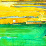 We shall not summer in that house again: Cricket Field with Tent - bowmanoilpaintings.co.uk