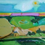 Little UFO Over Cottage- bowmanoilpaintings.co.uk