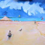 Edwardian Beach Scene - bowmanoilpaintings.co.uk