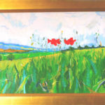 Poppies Towards High Hoyland - bowmanoilpaintings.co.uk