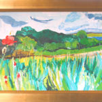 Cornfield with Poppies, West Bretton - bowmanoilpaintings.co.uk