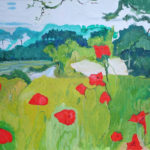 Field Poppies, West Yorkshire - bowmanoilpaintings.co.uk