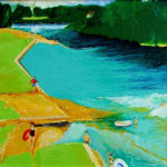 Knaresborough The Lido - bowmanoilpaintings.co.uk