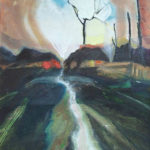 Lane in Moonlight - bowmanoilpaintings.co.uk