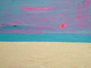 Red Sky Red Sun - bowmanoilpaintings.co.uk