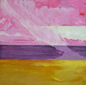 Red and Purple and Gold - bowmanoilpaintings.co.uk