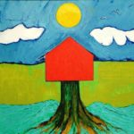 Sun, House, Tree, River - bowmanoilpaintings.co.uk