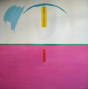 Pure Abstract with Pink - bowmanoilpaintings.co.uk